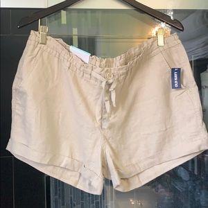 NWT*Old Navy Linen/Rayon Drawstring Shorts Size 14